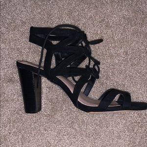 Torrid wide fit chunky tie front heel